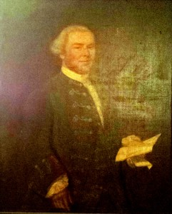 Original portrait of Patrick Coutts, the first master of Kilwinning Port Royal Crosse.