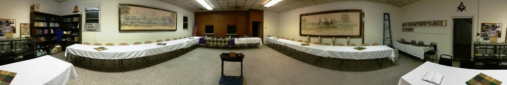 Rearranging the dining room for the September 19th Table Lodge.